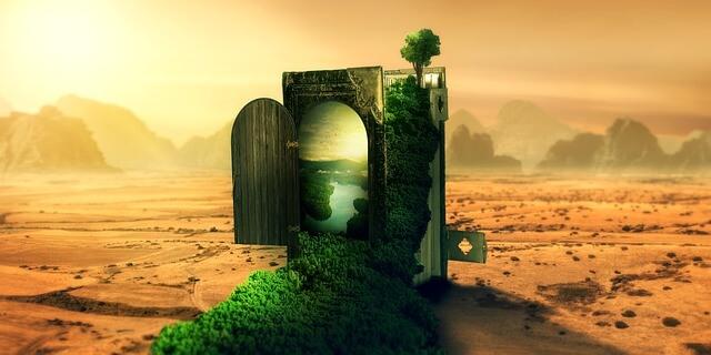 Μαγική πόρτα που ανοίγει μέσα στην έρημο